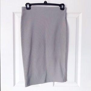 Forever21 gray midi skirt